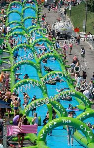 Super Quality 200m Inflatable Slide The City, Inflatable Water Slip N City Slide for Adults pictures & photos
