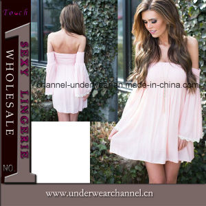 Sexy Fashion Women off-Shoulder Casual Dress (TGLDS15178) pictures & photos