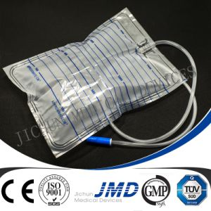 750ml Urine Leg Bag with Push and Pull Valve pictures & photos