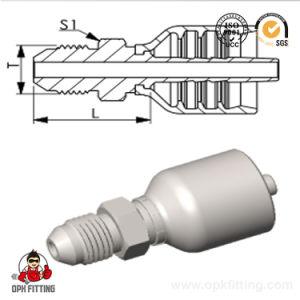 Jic Male 74° Cone Hydraulic One Piece Hose Fitting (16711Y) pictures & photos