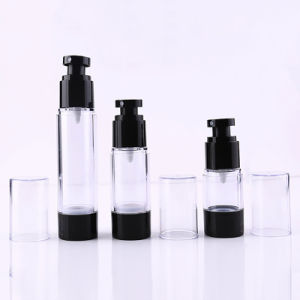 Black Airless Pump Bottle for Lotion (NAB05) pictures & photos