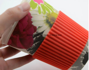 Customize Bamboo Fiber Water Drinking Cup with Lid and a Straw Hole pictures & photos