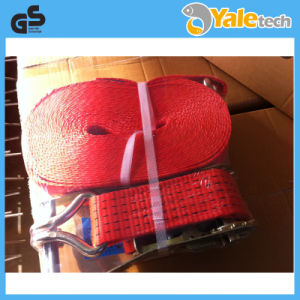 TUV/GS Certified 5t Ratchet Tie Down Lashing with Red Color pictures & photos