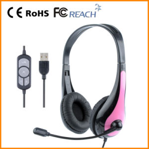 on Sales Wired USB Computer Around Ear Headphone for Children Quality Guarantee