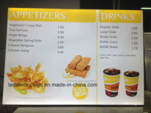 Restaurant LED Menu Board Advertising Light Box Store Display pictures & photos