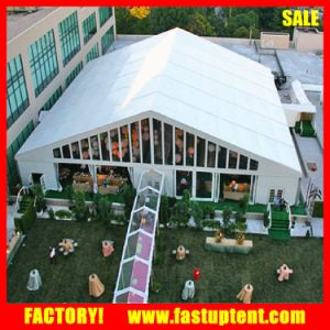 Romantic White Wedding Linging Decorated Marquee Banquet Tent for Sale pictures & photos
