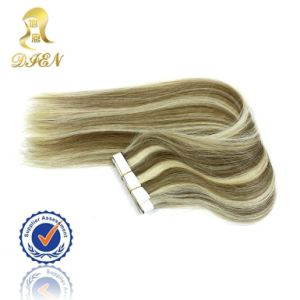 Mix Color PU Skin Virgin Indian Human Hair