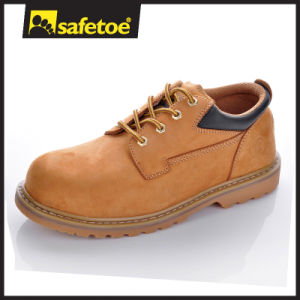High End Quality Leather Safety Shoes First Layer Leather Goodyear Welted Rubber Shoes pictures & photos