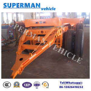 Utility Tri Axle Frame Drawbar Full Dolly Semi Truck Trailer for Cargo Sale pictures & photos