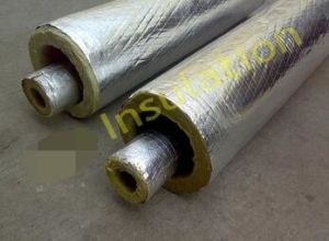 Aluminum Foil Cladding Glass Wool Insulation Material, Heat Insulation Glass Wool Pipe