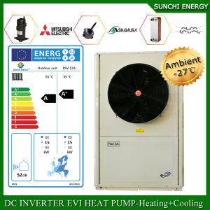 Spain/Italy -25c Winter Floor Heating 100~350sq Meter Room12kw/19kw/35kw Auto-Defrost Split Evi Air to Water Heat Pump Operation pictures & photos