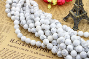 Size 4 6 8 10 12 14mme Turquoise Gemstone Loose Beads Round White Natural Turquoise pictures & photos