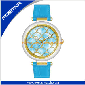 Shenzhen Factory Quartz Watch for Women with Genuine Leather Band pictures & photos