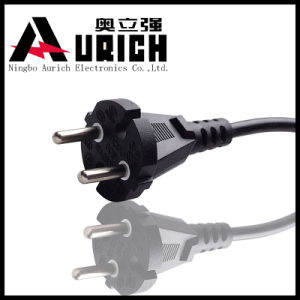 Europe Three Prong Cee7/7 Schuko VDE Power Cord pictures & photos