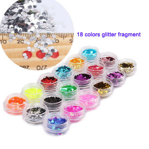 18 Colors Glitter Fragment Nail Art Decoration pictures & photos