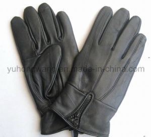 Fashion Lady Warm Leather Gloves/Mittens pictures & photos