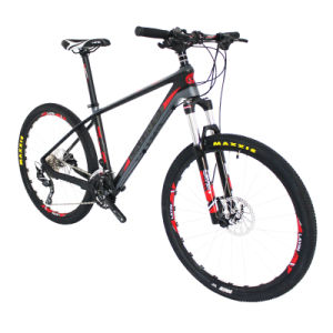 Hydraulic Disc Brake Carbon Fiber Mountain Bike with Shimano Derailleur&Brake pictures & photos