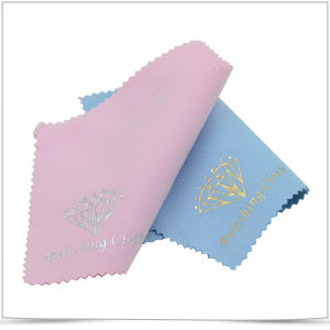Hot Stamping Microfiber Jewelry Polishing Cloth pictures & photos