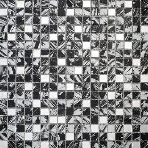 White and Black Crystal Glass Mirror Mosaic pictures & photos