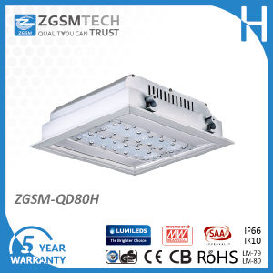 IP66 80W LED Ceiling Canopy Light for Gas Station Petrol Station Lighting pictures & photos