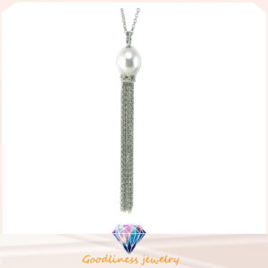 High Quality Fashion Jewelry for Woman 925 Sterling Silver Jewelry Cubic Zirconic & Shell Pearl Necklace (N6664) pictures & photos