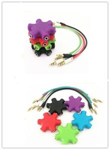 Colorful 3.5mm Audio Stereo Earphone Splitter for Cell Phone pictures & photos