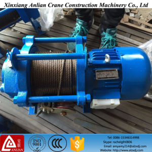 Kcd 300kg-2000kg 100m Electric Wire Rope Hoist Winch Hoist pictures & photos