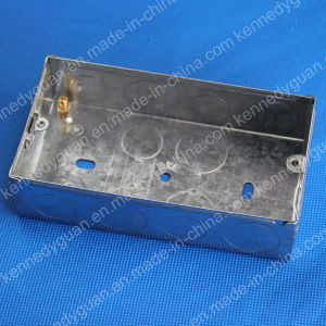1+1 Gang Electrical Steel Switch Boxes pictures & photos
