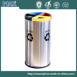 4 Collection Stainless Steel Waste Storage Recycle Dustbin pictures & photos