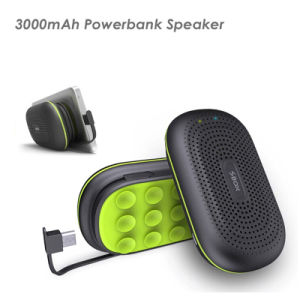 Bluetooth 3.0 3000mAh Power Bank Speaker Dt-B50 with Suction Cup Handsfree Calls Function pictures & photos
