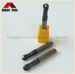 Hot Sales 2flutes HRC55 Altin Coating Ball Nose Carbide Cutter pictures & photos