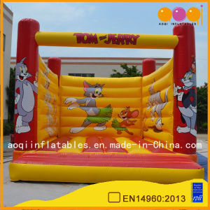 Kid Toy Red and Yellow Suqare Bouncer Castle Inflatables Bouncer (AQ297-2) pictures & photos