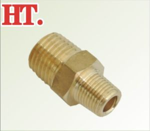 Brass Reducing Nipple Pipe Fitting pictures & photos