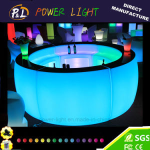 Rechargeable LED Furniture RGB Color Changing Bar Curved Section pictures & photos