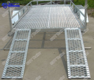 Tilt Car Trailer with Brake (SWT-CT166) pictures & photos