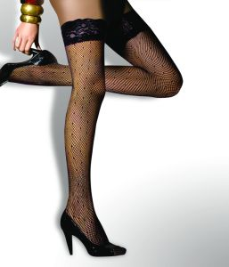 Sexy Fishnet Sheer Thigh Highs Stockings with DOT Pattern pictures & photos