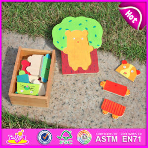 2015 Educational Toys Animal Puzzle Game Toys, Lovely Animal Design Wooden Puzzle Toy, Cheap DIY Wooden Puzzle Toy in Box W14D012 pictures & photos