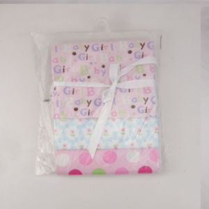 Cotton Flannel Printed Baby Blanket 3PCS Set pictures & photos