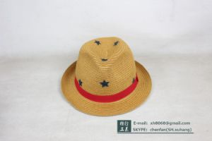 Trilby Paper Straw Hat (XH-PA2115) pictures & photos