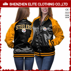 2016 Wholesale Plain Custom Satin Baseball Jackets Women pictures & photos