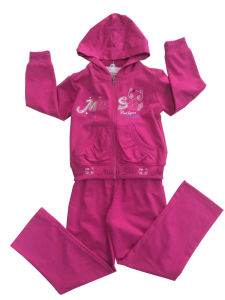 Fashion Girl Sport Wear in French Terry Children Clothing Sport Suit (SWG-115) pictures & photos