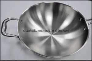 5 Ply All Clad Steel Induction Wok pictures & photos