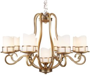 Iron Chandelier, Metal Lighting, Antique Brass Finish, Glass Fabric (SL2242-6+1) pictures & photos