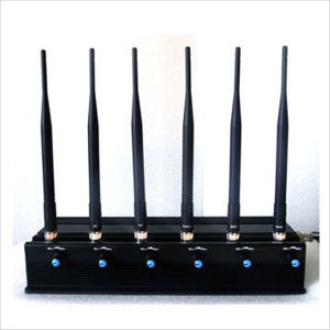 6 Band Adjustable Power Wall-Mounted Mobile Signal Jammer Signal Blocker pictures & photos