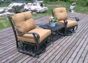 Garden Rockport 3PC Swivel&Glider Chat Sets Furniture pictures & photos