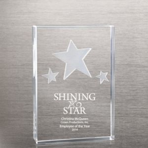 Star Cluster 3-D Etch Crystal Trophy (#79961) pictures & photos