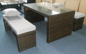 Rattan Furniture Outdoor Aluminium Frame Lounge Dining Bench Set pictures & photos