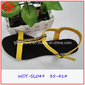 Women Gladiator Slipper Shoes Confortable PU Upper Sandals pictures & photos