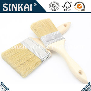 Double Thick Painting Brushes with Wooden Handle pictures & photos