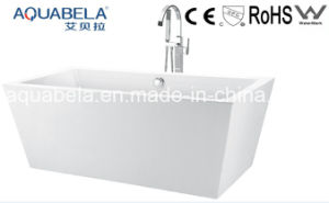 Multi Function Acrylic White Bathtub with Faucet (JL604) pictures & photos